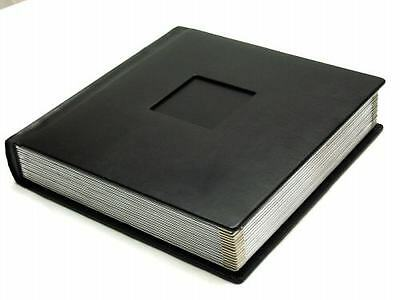 Professional 10x10 BLACK Silver Photo Album With 40 Mats  (Engraving Available)