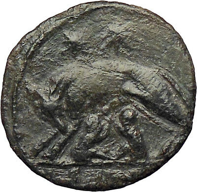 Constantine I The Great 330AD Ancient Roman Coin Romulus & Remus Wolf  i28947
