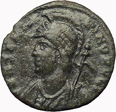 Constantine the Great  Founds CONSTANTINOPLE Ancient Roman Coin Victory i29033