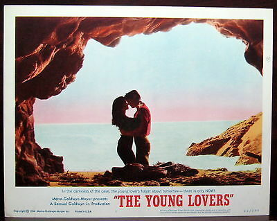 ` The Young Lovers Original 1964 MGM Lobby Card Beach Alcove