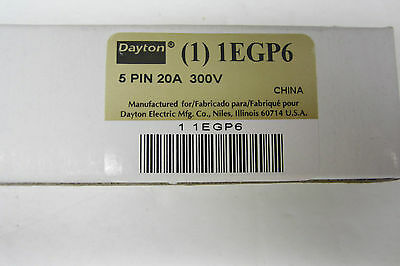 5 New Dayton 1Egp6 Relay Socket 5 Pin 20A 300V