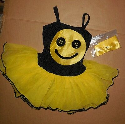 NWT BEAUTY PAGEANT COSTUME FOIL SEQUIN  YELLOW  TUTU SEQUIN SMILEY FACE Sz Tot