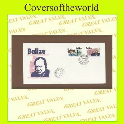 Belize 1974 Churchill set First Day Cover