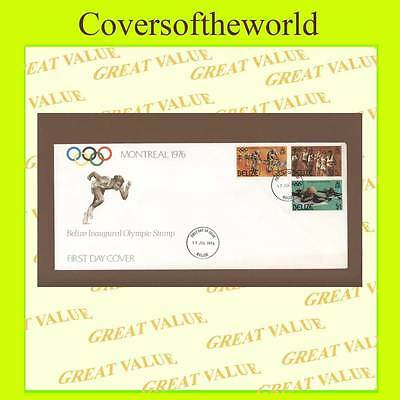Belize 1976 Montreal Olympics set First Day Cover