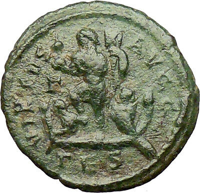 Arcadius 383AD Ancient Roman Coin Phoenix firebird Galley Chi-Rho Christ i29222
