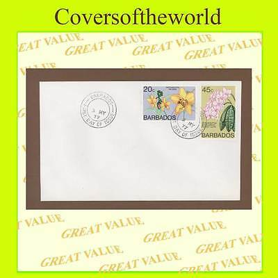 Barbados 1977 20c & 45c Flowers First Day Cover
