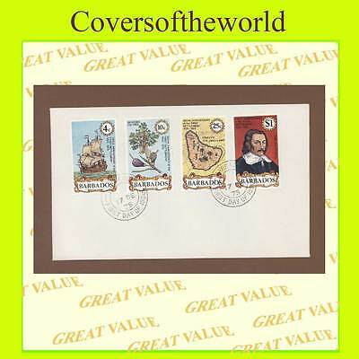 Barbados 1975 300th Anniversary of Settlement set First Day Cover