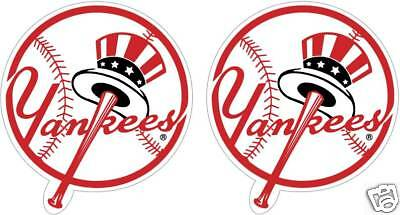 """New York Yankees 8"""" Stickers/decals. Pack Of 2. Free Same Day Ship"""