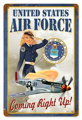"""""""U.S. Air Force Girl"""" Vintage Metal Sign - Made in the USA"""