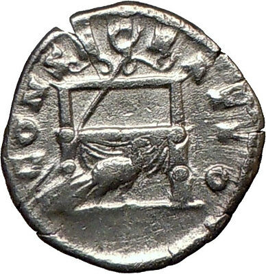 FAUSTINA II wife of Marcus Aurelius Peacock Ancient Silver Roman Coin  i21240
