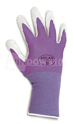 12 Pairs Atlas Showa 370 Nitrile Gloves Garden Work Paint Landscaping ANY COLOR