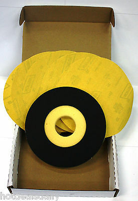 "5 Pack Norton 9"" 220 Grit Sand Disc 1 Back Up Pad Abrasive Sanding Drywall Kit"