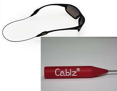 """Cablz Sunglass Retainer - 14"""" Red/White/Clear Coated"""