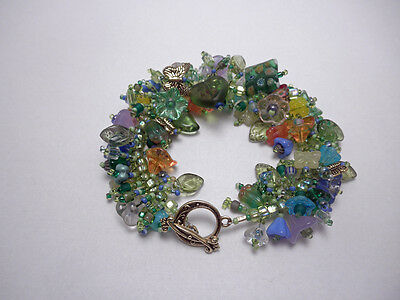 "Bracelet Kit ""Bouquet"" Fringe Magic, Glass flower beads"