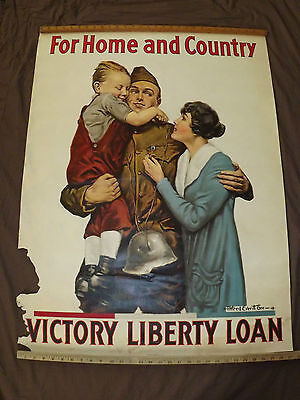 Huge Wwi World War 1 1918 Victory Loan Alfred Everitt Signed Dough Boy  Poster