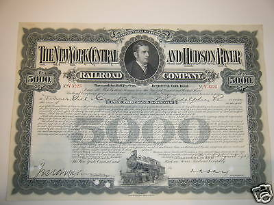 New York Central and Hudson River $5,000 Gold Bond '40s
