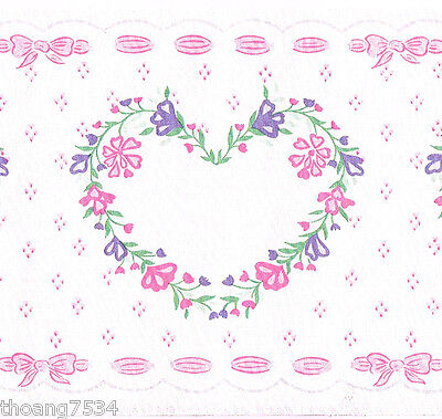 Salmon Bow Bows Ribbon off  White Wall  559214 Wallpaper Border  Large Pink