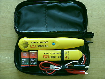 Cable Finder Tone Generator Probe Tracker Wire Tracer Kit Network Tester