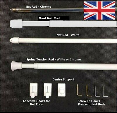 Spring Extendable Telescopic Net Voile Tension Rod Curtain Rail Pole Net Rods