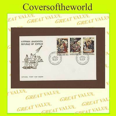 Cyprus 1972 Christmas set First Day Cover