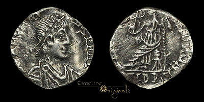 Contemporary Issue Of Arcadius Roma Roman Silver Siliqua Coin 023838