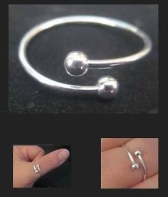 925 Silver Ring / Thumb Ring Spiral Twist - Adjustable - Choose: Small Med Large