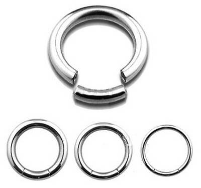 STEEL Segment Ring - Choose Size:  1mm up to 5mm Gauge - 6mm up to 19mm Diameter