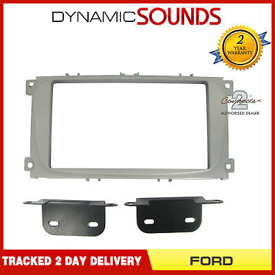 CT23FD08 Double Din Car Stereo (Silver) Fascia Panel Adaptor For FORD Focus
