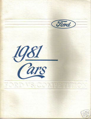 1981 Ford Extensive Car Line Vs Competition Advertisement