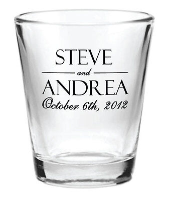 144 Wedding Favors Personalized Glass 1.5oz Wedding Favor Shot Glasses