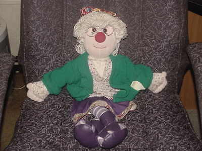 "22"" Granny Garbanzo Plush Doll From Big Comfy Couch 1997 Adorable"
