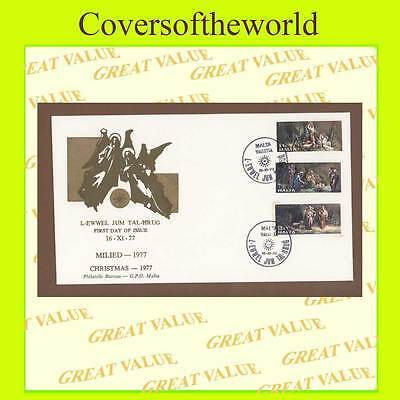 Malta 1977 Christmas set on Malta Post  First Day Cover