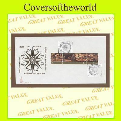 Malta 1975 Christmas set on ES First Day Cover