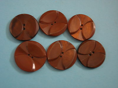 1151 MERCERIE ANCIENNE  BOUTON GALALITHE CARAMEL