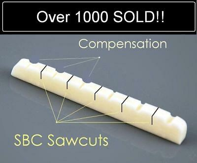 AxeMasters SBC / COMPENSATED BONE NUT made for Fender Guitar Strat Tele
