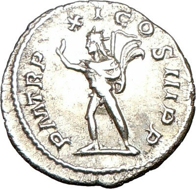 SEVERUS ALEXANDER Quality Ancient Silver Roman Coin Nude SOL Sun w whip i25488