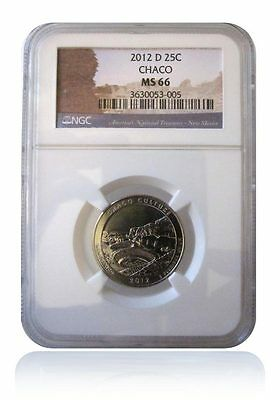 NGC MS66 2012-D Chaco Culture New Mexico National Park Quarter Gem Uncirculated