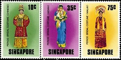 Traditional Costumes Stamps Of Singapore #257-259 MNH
