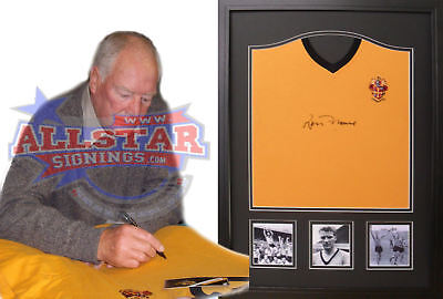 Framed Ron Flowers Signed Wolverhampton Wanderers Football Shirt Wolves Proof