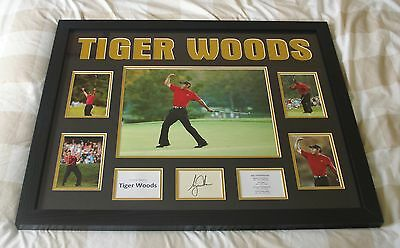 Tiger Woods Authentic & Genuine Hand Signed & Framed Photo Display + Proof & Coa
