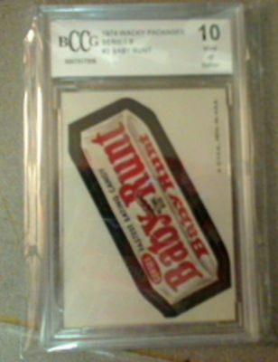 WACKY PACKAGES SERIES 6 TAN BACK #2 BABY RUNT BCCG 10 MINT