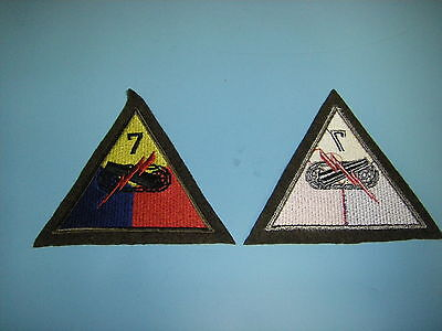 b0602-7 US Army Late 1930's & WW 2 7th  Armored Division patch