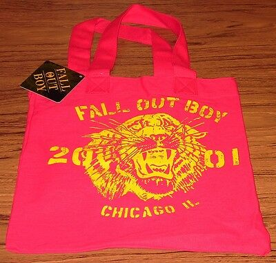FALL OUT BOY TOTE BAG Purse Pink Authentic Licensed NEW