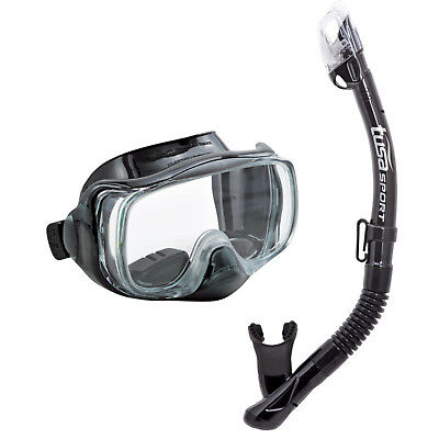 Tusa Uc3325 Imprex 3D Purge  Mask And Elite Dry  Drain Snorkel  Adult Combo
