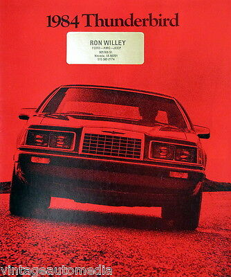 1984 Ford Thunderbird coupe new vehicle brochure