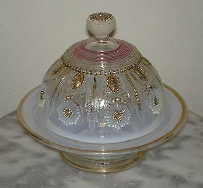 Northwood Encore or Jewel & Flower Covered Butter Dish