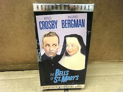 L44 THE BELLS OF ST. MARY'S BING CROSBY REPUBLIC 1945 USED VHS TAPE