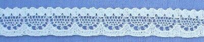 12mm White Cotton Lace