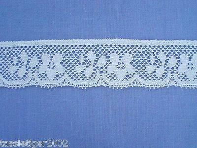 25mm White Cotton  Lace