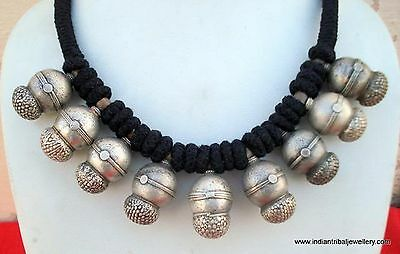 vintage antique ethnic tribal old silver necklace pendant traditional jewellery
